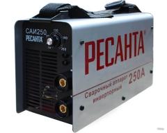 Сварочный инверторный аппарат РЕСАНТА 250А (маска хамелеон, краги)